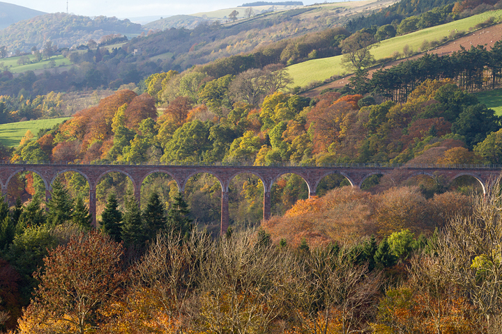 Leaderfoot viaduct view,near Melrose in the Scottish Borders